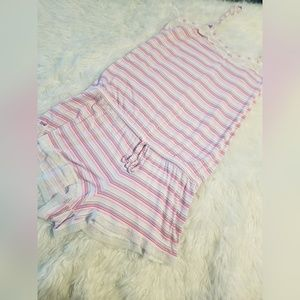 💘 Victoria's Secret Striped Sleep Romper